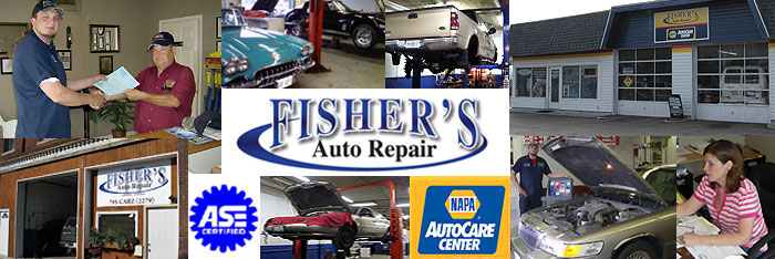 Welcome to Fisher's Auto Repair located in Decatur and Argenta, Illinois